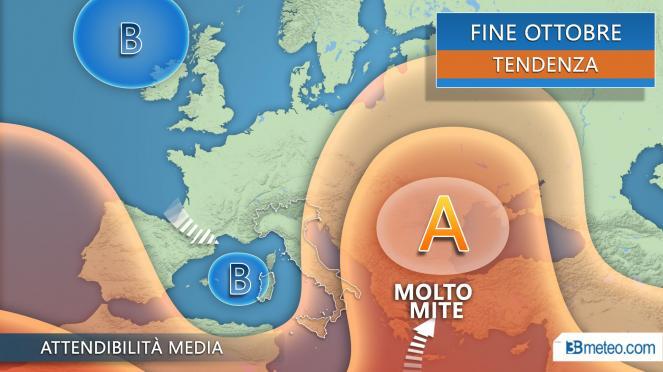 Meteo fine ottobre-Ognissanti vortice di maltempo sull'Italia