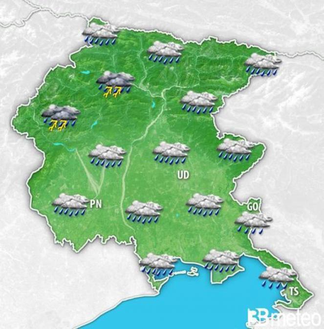 Meteo Friuli Venezia Giulia: previsione per lunedì mattina