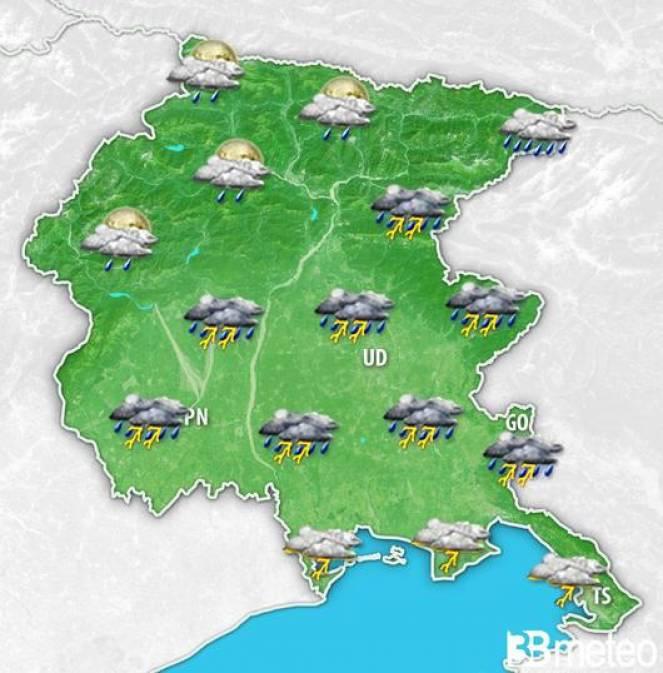 Meteo Friuli Venezia Giulia: previsioni per sabato sera