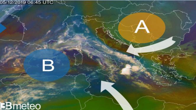 meteo giovedì in Italia