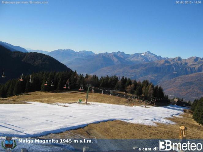 METEO, IMMACOLATA: in montagna solo neve artificiale.