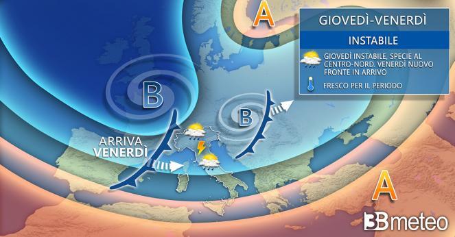 Meteo Italia. A tratti instabile, in attesa di un nuovo fronte venerdì