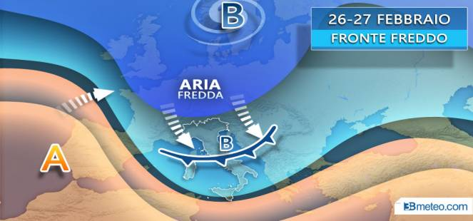 TENDENZA: SI CAMBIA il 25-27 febbraio, IRRUZIONE FREDDA in arrivo dal Nord Europa