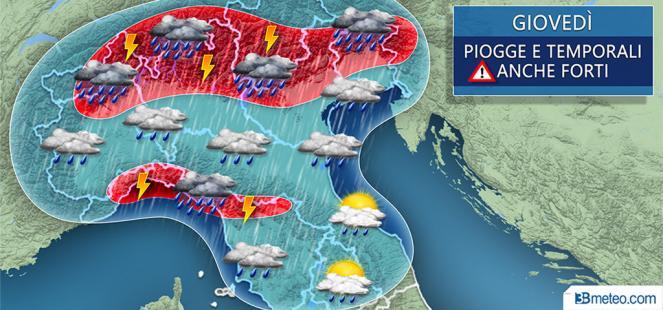 ULTIMA ORA: forte MALTEMPO tra giovedì e venerdì, RISCHIO NUBIFRAGI e GRANDINATE