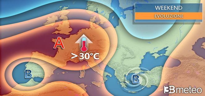 SCOPPIA L ESTATE nel WEEKEND: punte di 35°C, ma attenzione a qualche temporale