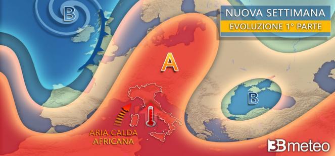 🔴 Prossimi giorni: tra CALDO AFRICANO e IMPROVVISI TEMPORALI, tutti i dettagli