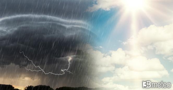 Meteo Italia ancora spaccata in due tra sole e temporali