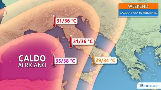 Meteo Italia: caldo in aumento nel weekend