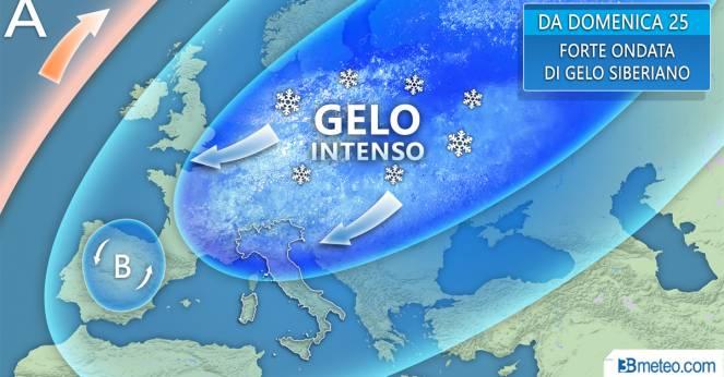 Meteo Italia: da domenica ondata di gelo siberiano