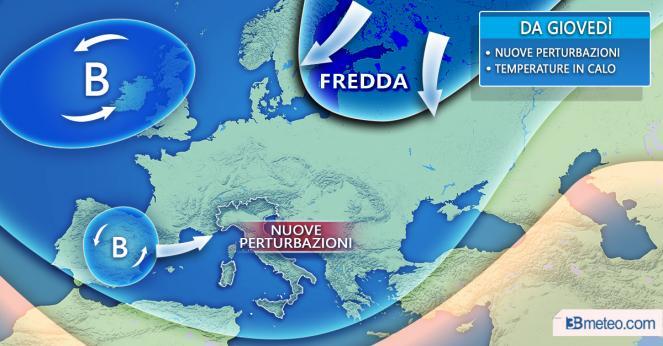 Meteo: maltempo in graduale miglioramento, ma giovedì tornano pioggia e freddo