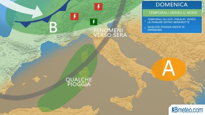 Meteo Italia domenica: la situazione prevista