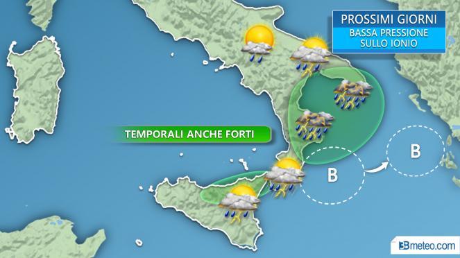 Maltempo in arrivo in Sicilia, allerta della protezione civile