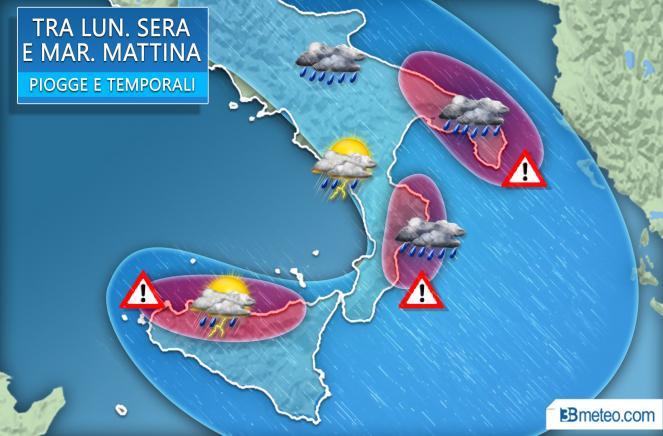 Meteo Italia: focus Sud