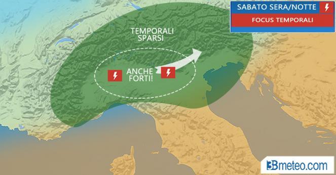 METEO ITALIA. In settimana possibili temporali sulle Alpi centro occidentali