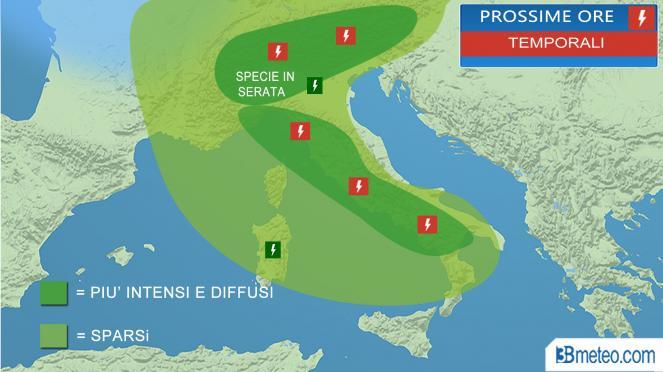 Meteo Italia: focus temporali prossime ore