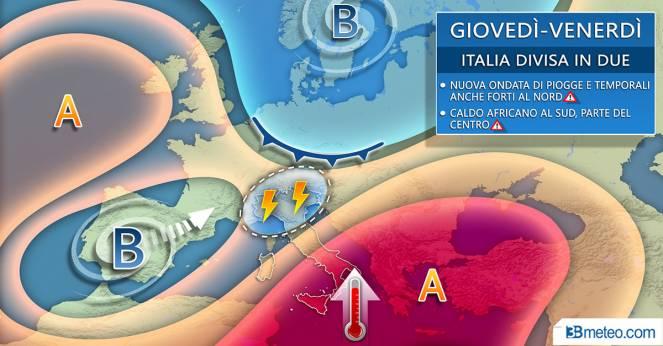 Meteo Italia giovedì/venerdì