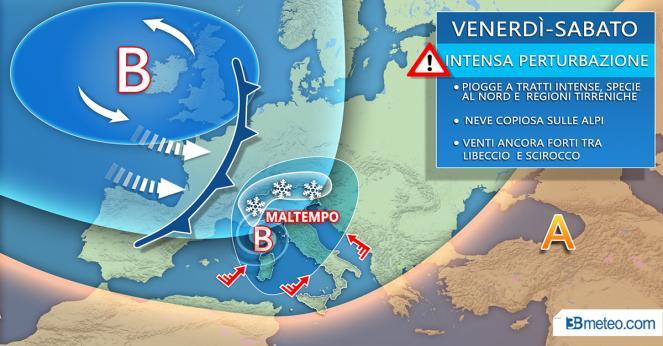 Meteo Italia: il fronte atteso tra venerdì e sabato