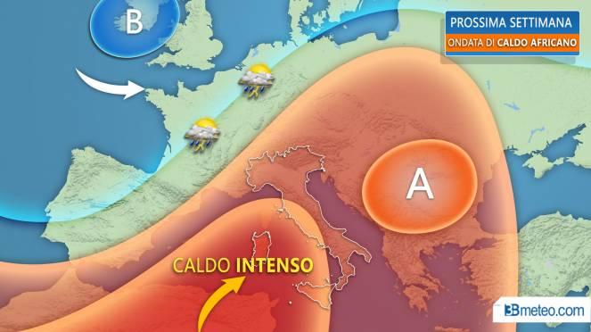 Meteo, in arrivo da lunedì la più intensa ondata di caldo dell'estate