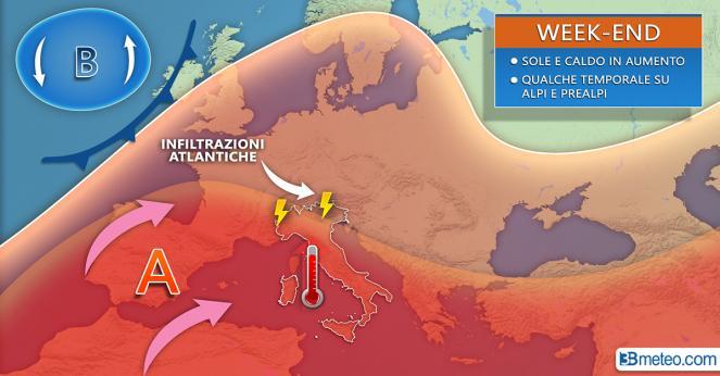 Meteo Italia: la previsione per il weekend
