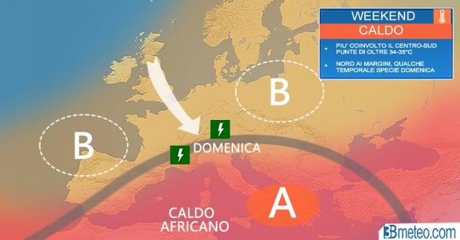 Meteo Italia: la situazione attesa nel weekend