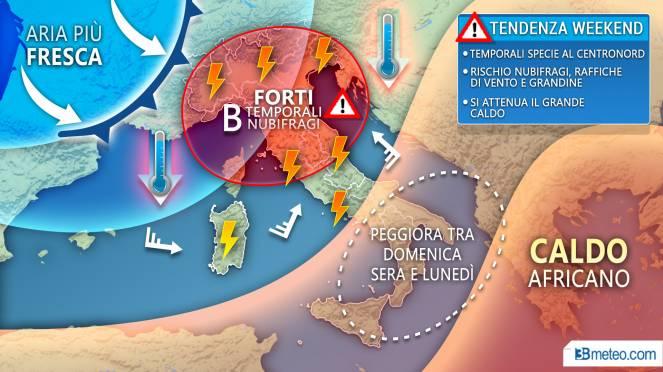 Le previsioni meteo di domenica 28 luglio