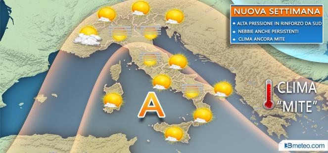 Meteo Italia: la situazione attesa nella nuova settimana