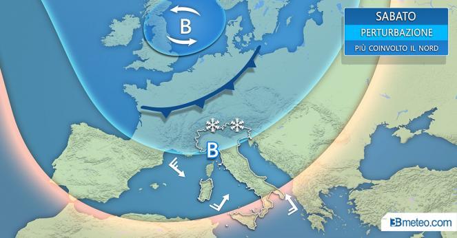 Previsioni per il 24 novembre, nuvolosità irregolare e deboli piogge nel pomeriggio