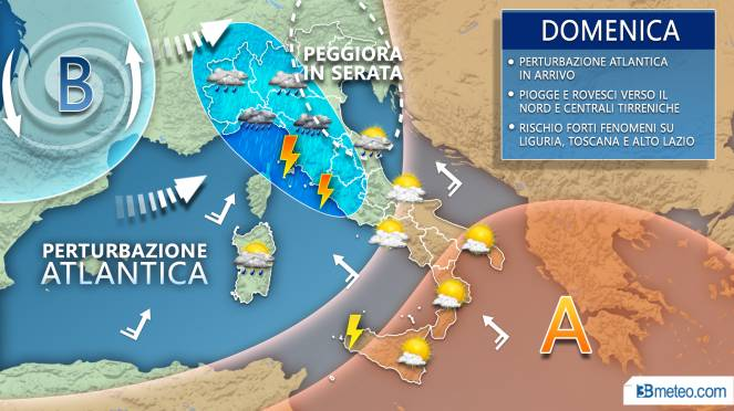 Meteo Italia: la situazione prevista domenica 22 settembre