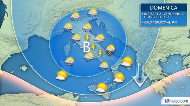 Meteo Italia: la situazione prevista domenica