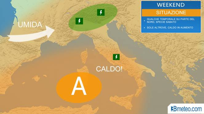 CALDO FORTE con cambiamento meteo dopo il 5-7 Agosto