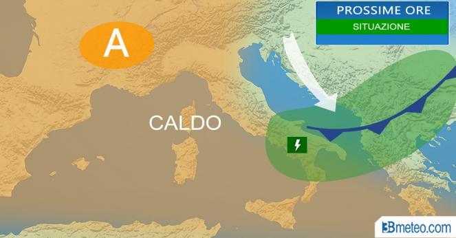 Meteo Italia: la situazione prevista nelle prossime ore