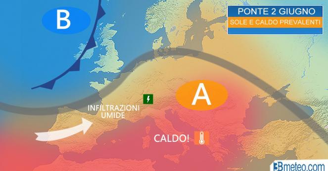 Meteo Italia: la tendenza per il Ponte del 2 Giugno