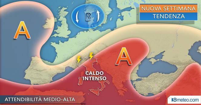 Meteo Italia: la tendenza per la nuova settimana