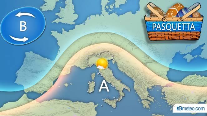 Meteo Italia: la tendenza per Pasquetta
