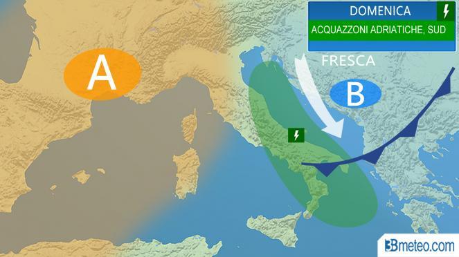 Meteo Italia: le previsioni per domenica