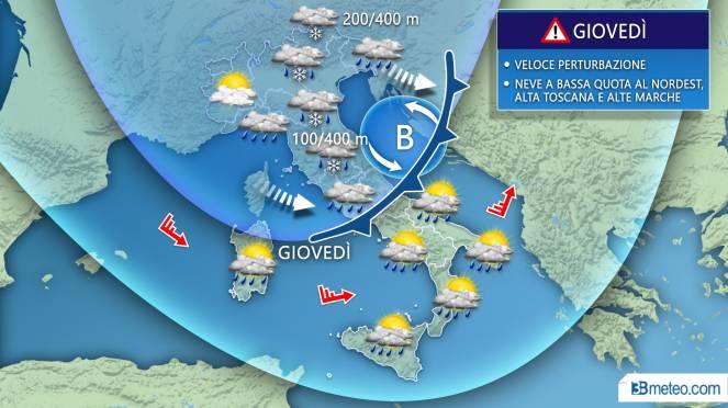 Meteo Italia: le previsioni per le prossime ore