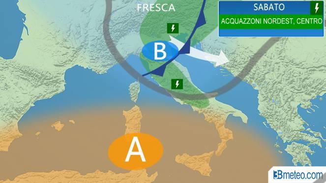 Meteo Italia: le previsioni per sabato
