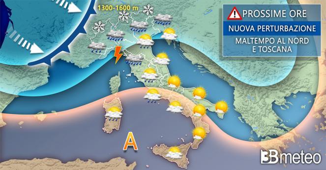 Meteo Italia lunedì