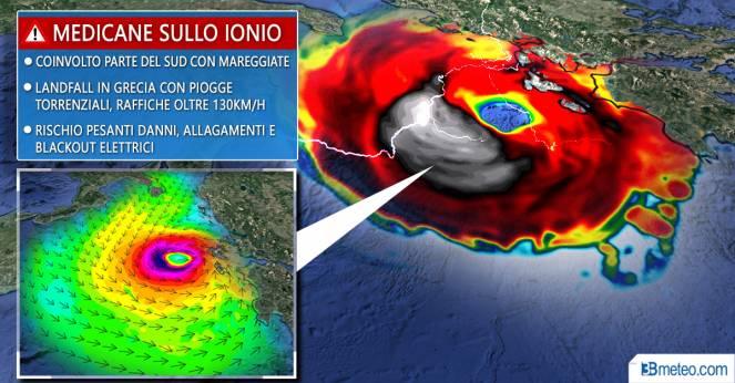Meteo Italia: medicane sullo Ionio!