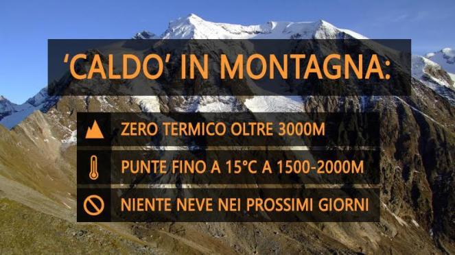 Meteo Italia: molto mite anche in montagna