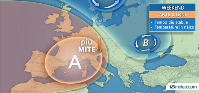 Meteo Italia: nel weekend anticiclone in rinforzo