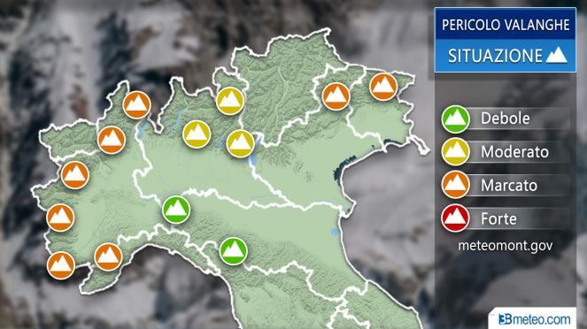 Meteo Italia: pericolo valanghe ancora marcato