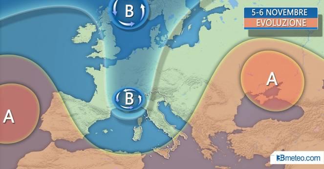 Meteo Roma, autunno in arrivo: piogge da domenica e temperature in calo