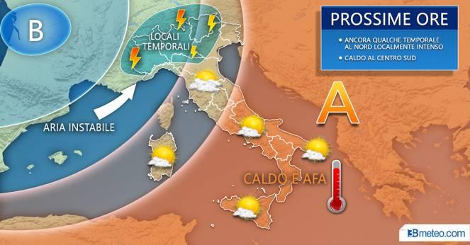 Meteo Italia: previsioni per le prossime ore