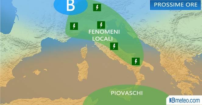 Meteo Italia: previsioni prossime ore