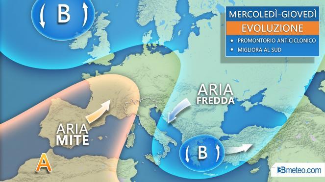 Meteo Italia - Promontorio anticiclonico