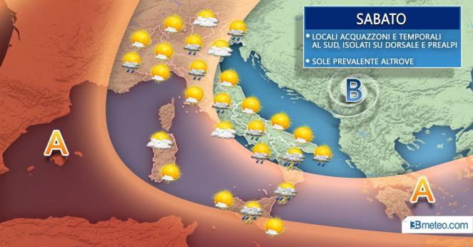 Meteo Italia sabato