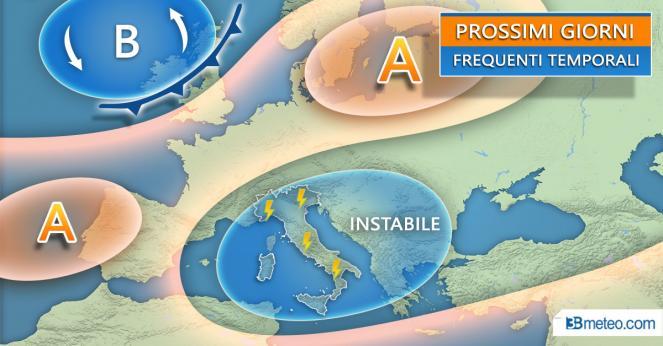 Meteo Italia: situazione attesa nei prossimi giorni