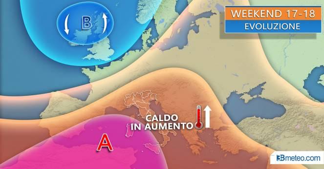 Meteo Italia: situazione attesa nel weekend