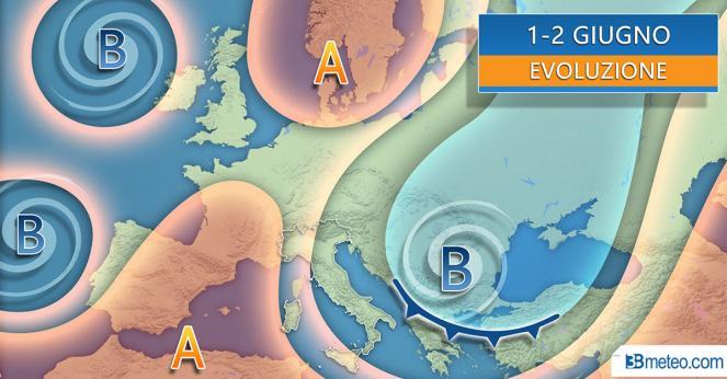 Meteo Italia: situazione attesa per il 2 giugno